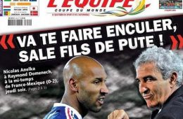 Nicolas Anelka-livre-donne-nom-taupe-mondial-sud africain-journal-lEquipe-Mondial-Affaire Anelka-fiasco-Knysna-France Mexique-revelations-balance-foot-Raymond Domenech